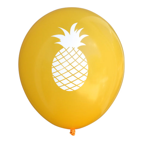 PRINTED BALLOONS - YELLOW PINEAPPLE