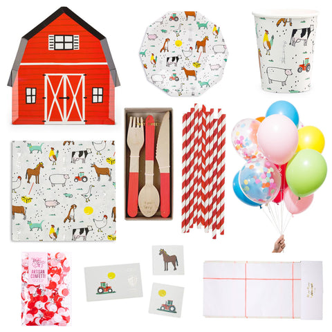 BARNYARD BASH PARTY BOX FOR 8