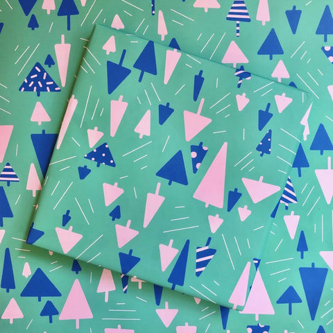 FESTIVE FOREST WRAPPING PAPER - 3 SHEET ROLL