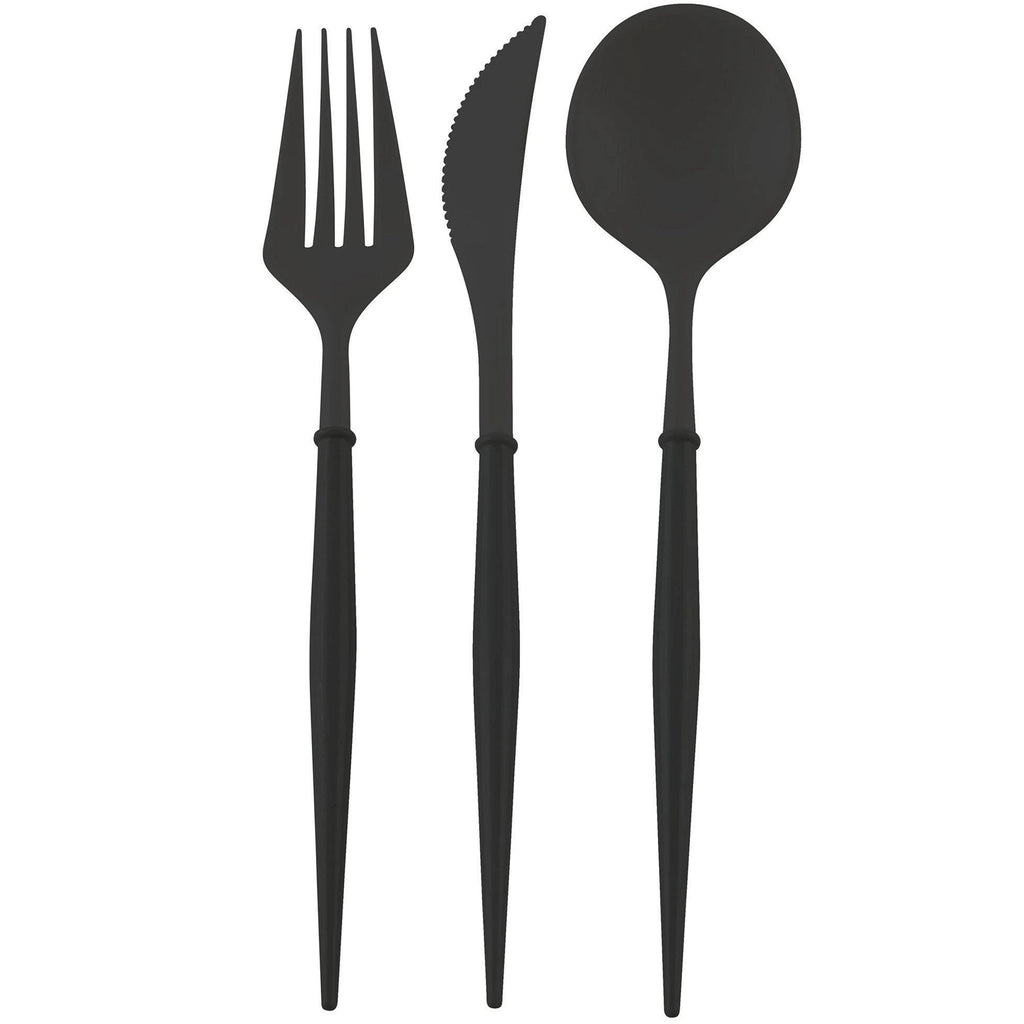 BELLA MATTE BLACK PREMIUM REUSABLE CUTLERY