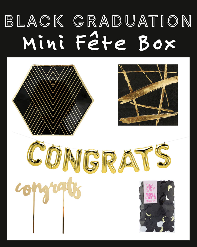 BLACK GRADUATION MINI FÊTE BOX