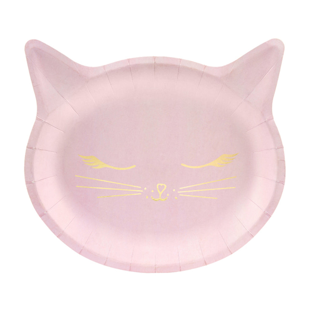 PINK KITTY CAT PLATES