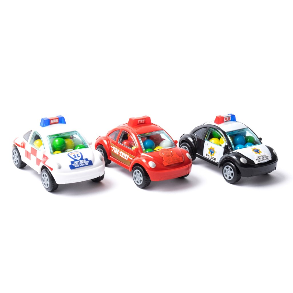 CANDY FILLED RESCUE CARS - SET OF 3