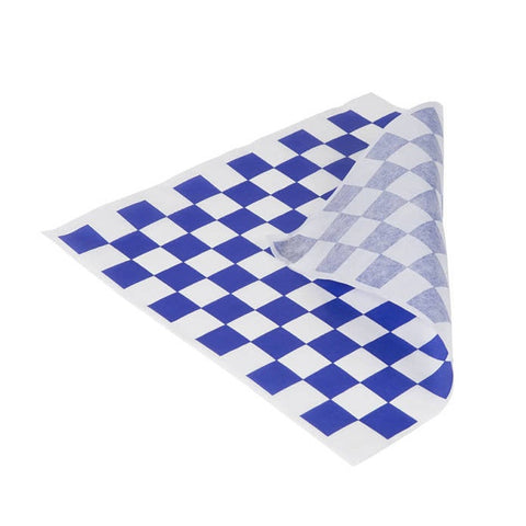 BLUE CHECKED DELI SHEETS