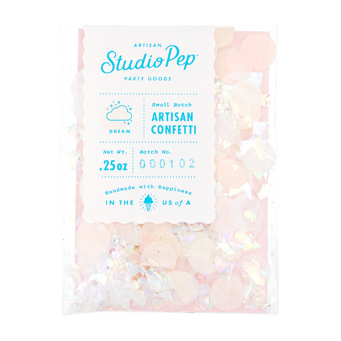 Premium Party Confetti in blush, ivory and iridescent sparkles