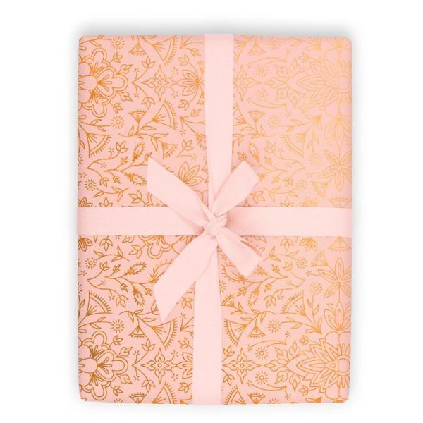 MOROCCAN PEACH WRAPPING PAPER 3-SHEET ROLL