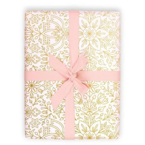 PRUSSIAN SNOW WRAPPING PAPER 3-SHEET ROLL