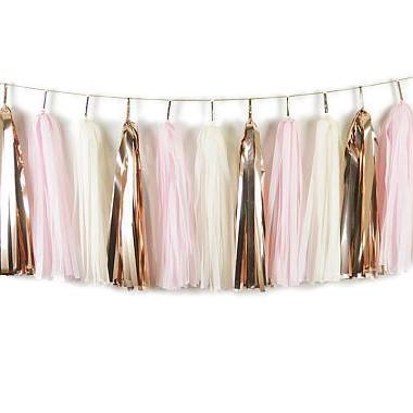 TASSEL GARLAND - LIGHT PINK AND ROSE GOLD