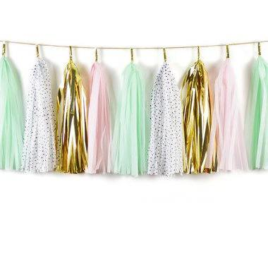 TASSEL GARLAND - PINK AND MINT