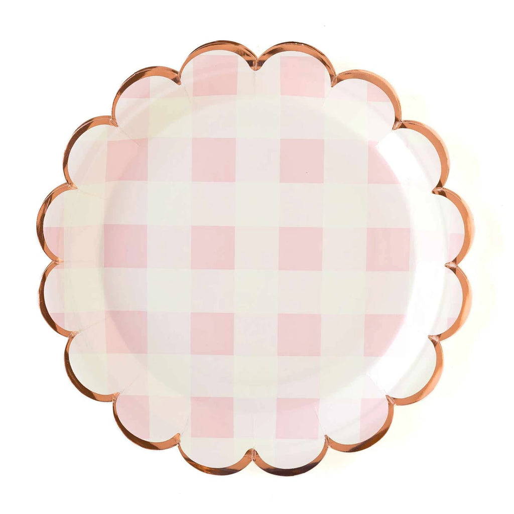LIGHT PINK PLAID PLATES
