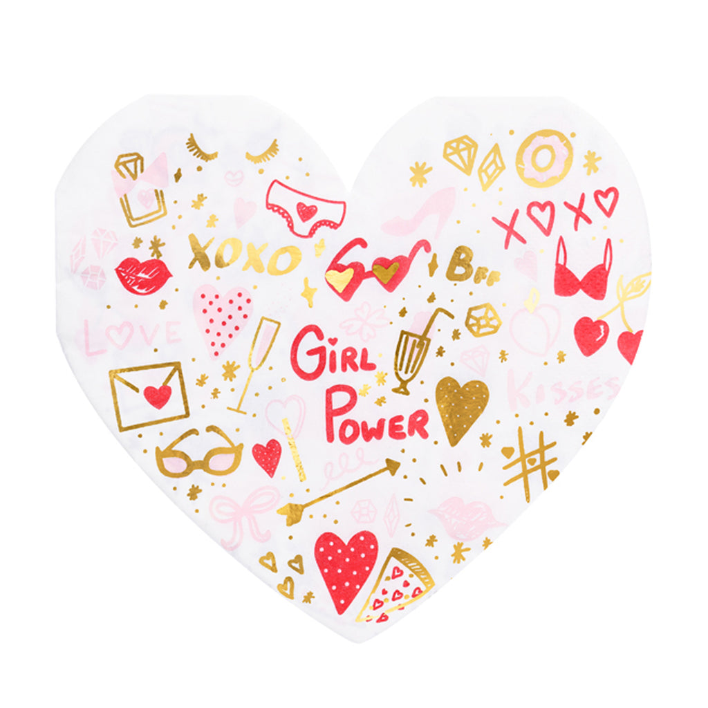 GIRL POWER HEART NAPKINS