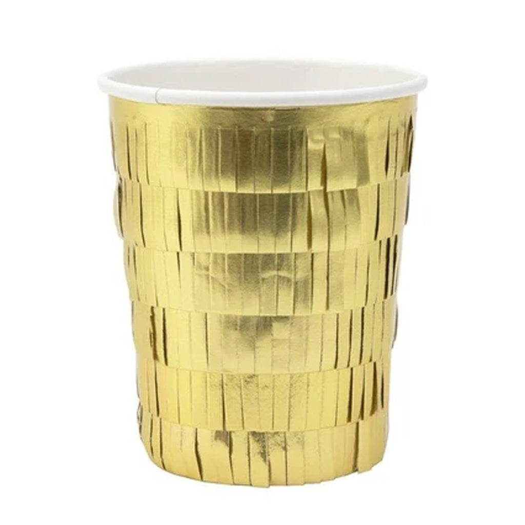 GOLD FRINGE PARTY CUPS
