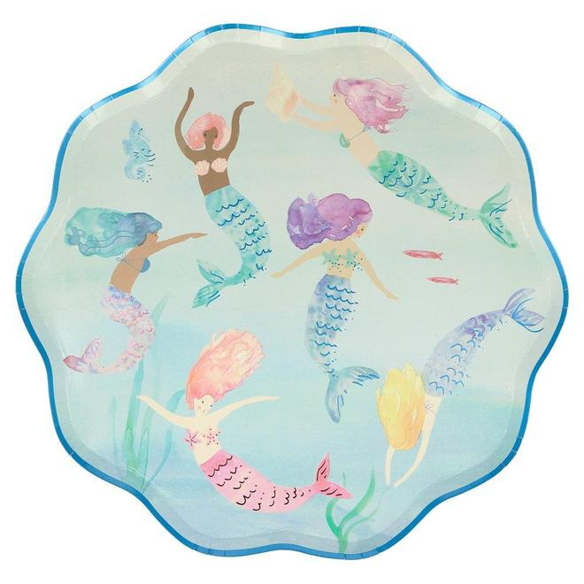 MERMAIDS SWIMMING PLATES