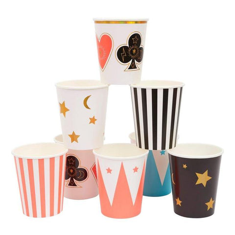 Magic themed party cups