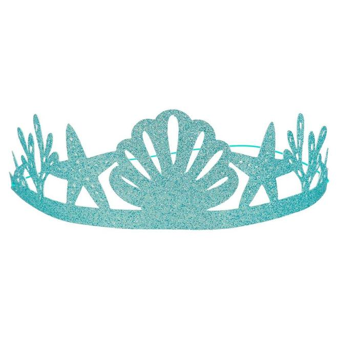 Blue GLitter mermaid party crown