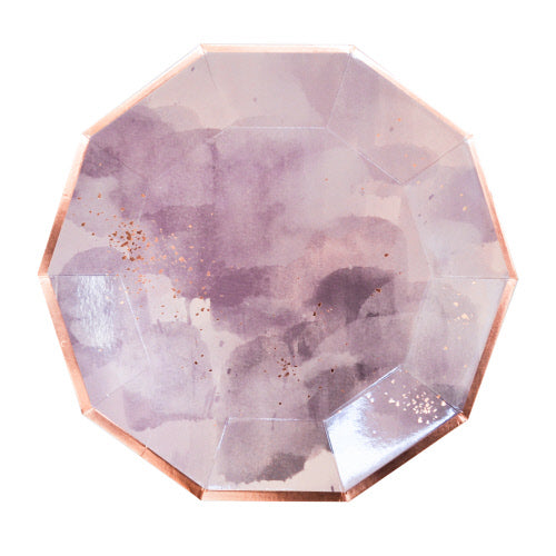 AMETHYST PURPLE WATERCOLOUR LARGE PLATES