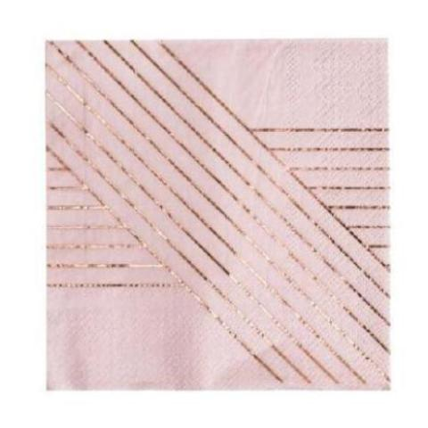 AMETHYST PALE PINK STRIPED LARGE NAPKINS