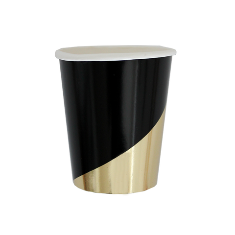 NOIR BLACK AND GOLD COLOURBLOCK CUPS