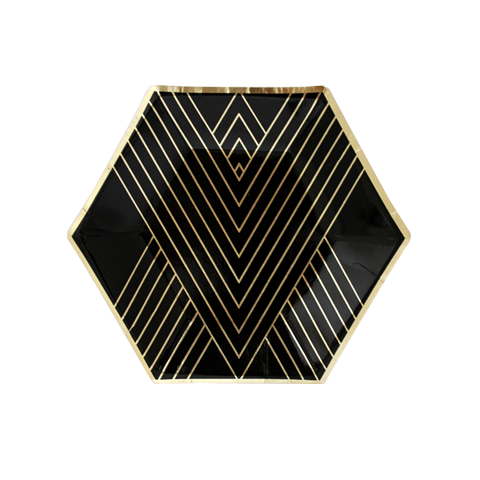 NOIR BLACK AND GOLD SMALL PLATES