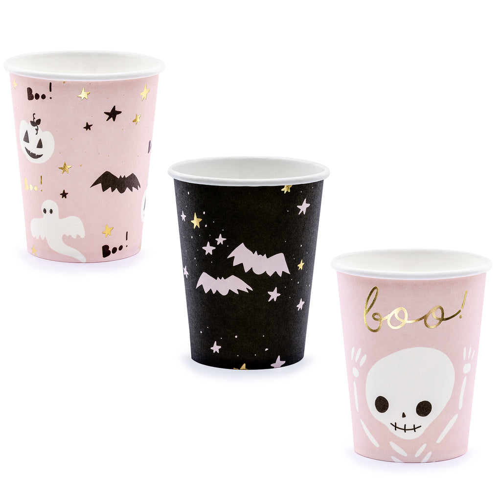 BOO! HALLOWEEN PATTERNED CUPS