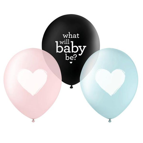 PRINTED BALLOONS - GENDER REVEAL TRIO