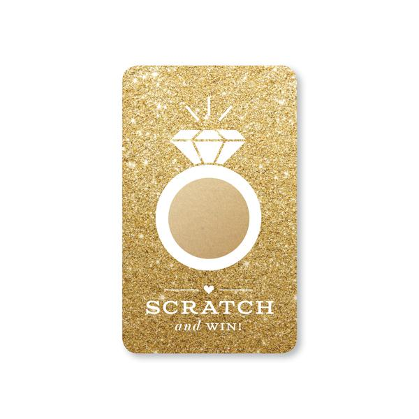 BRIDAL SCRATCH-OFF GAME - GOLD GLITTER