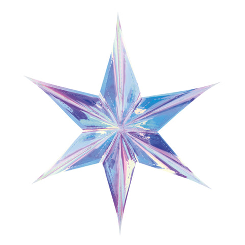 IRIDESCENT STAR HANGING DECORATION