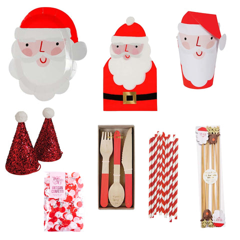 JOLLY SANTA PARTY BOX FOR 8