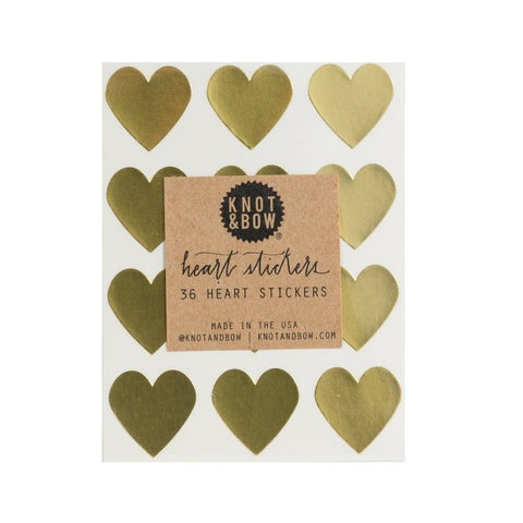 STICKERS - LITTLE GOLD HEARTS