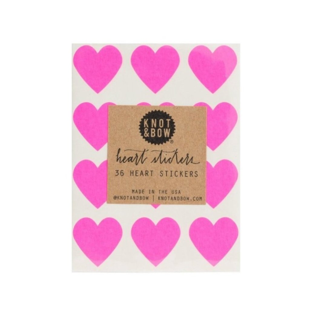 STICKERS - LITTLE NEON PINK HEARTS