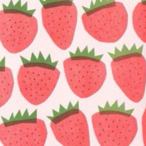 STRAWBERRIES NEWSPRINT WRAPPING PAPER FLAT PACK