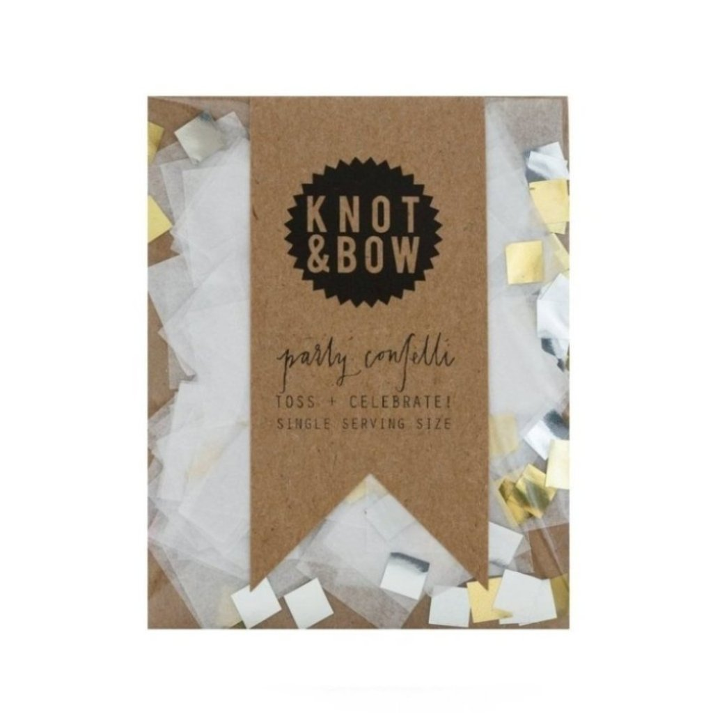 SINGLE SERVING SIZE WHITE METALLIC CONFETTI