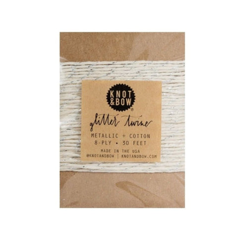 TWINE - SILVER/NATURAL TWINE CARD