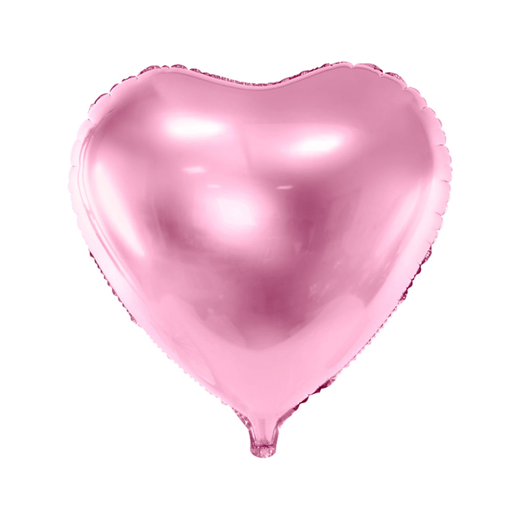 HEART FOIL BALLOON - LIGHT PINK
