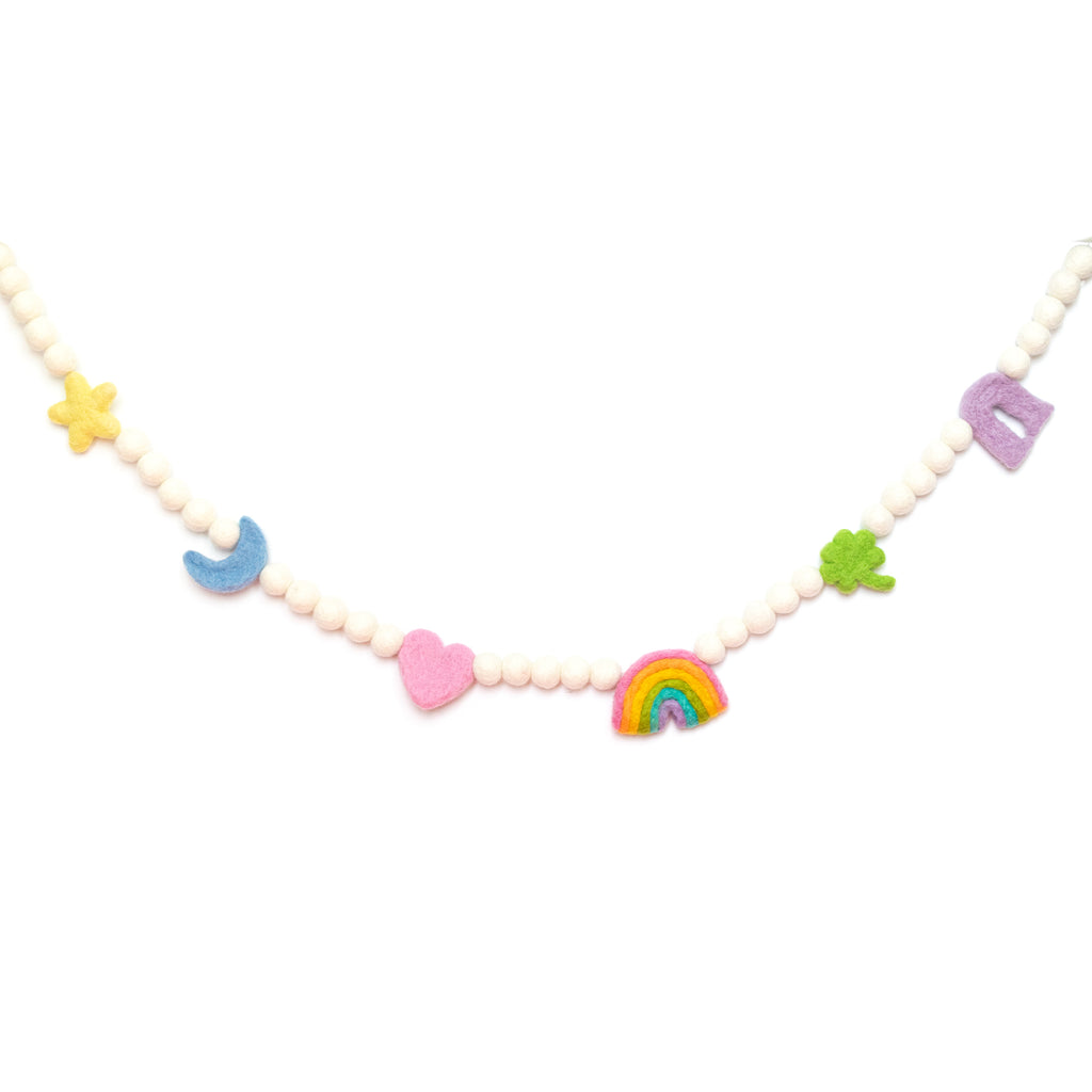 LUCKY CHARMS FELT BALL GARLAND