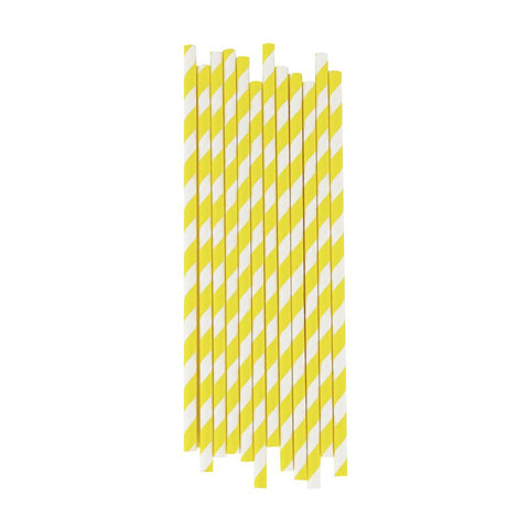 YELLOW STRIPE STRAWS
