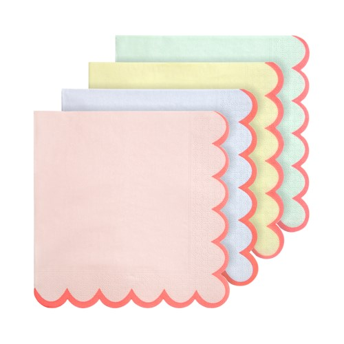 PASTEL NEON EDGE LARGE NAPKINS
