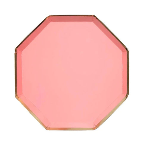 CORAL OCTAGONAL SMALL PLATES