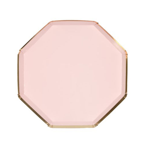 DUSTY PINK OCTAGONAL SMALL PLATES