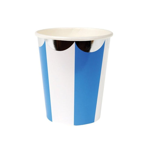 BLUE STRIPE CUPS