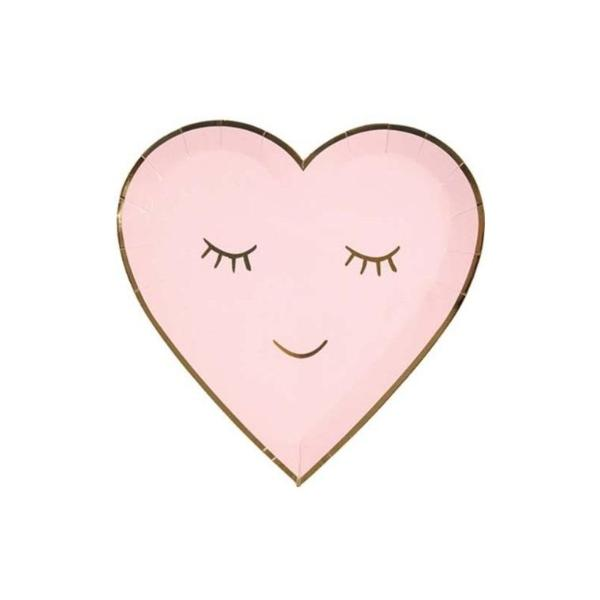 BLUSHING HEART DIE CUT SMALL PLATES