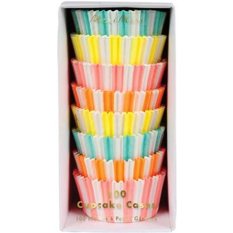 CUPCAKE LINERS - NEON STRIPE