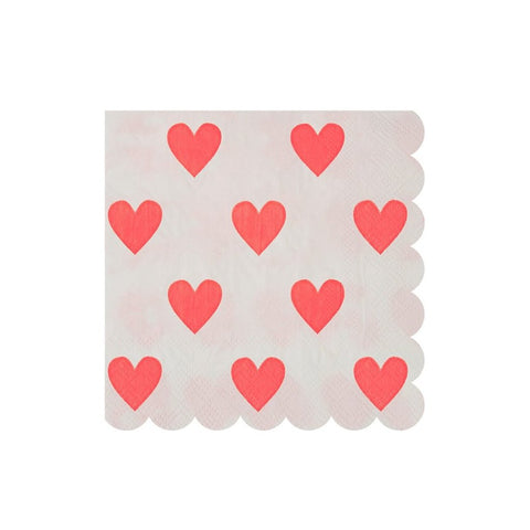 HEART PATTERN COCKTAIL NAPKINS