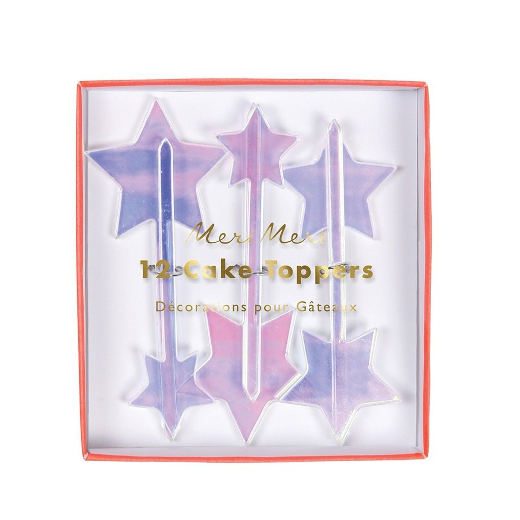 CUPCAKE TOPPERS - IRIDESCENT STARS