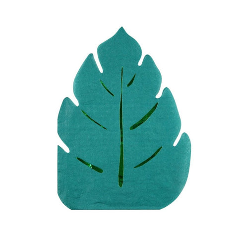 JUNGLE LEAF DIE CUT LARGE NAPKINS