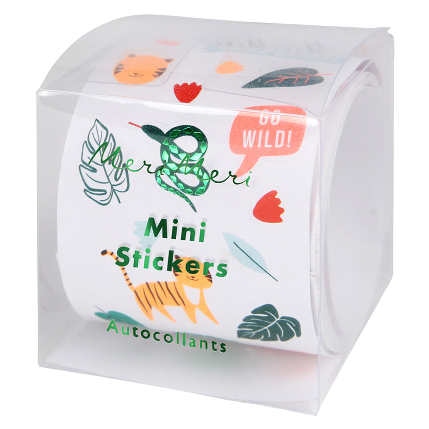 MINI STICKER ROLL - WILD ANIMALS AND JUNGLE