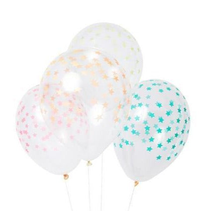 PRINTED BALLOONS - MIXED STAR