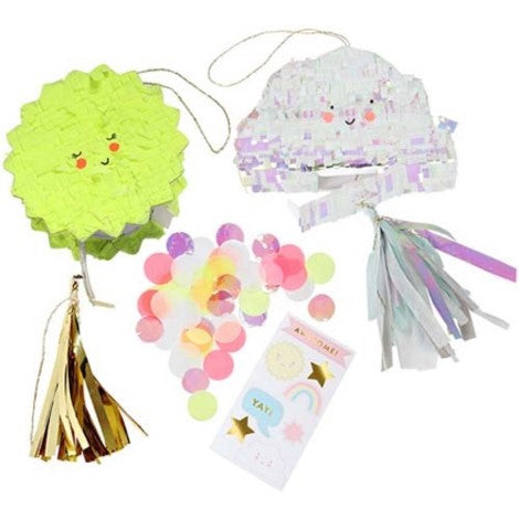CLOUD AND SUN PIÑATA PARTY FAVOUR SET OF 2
