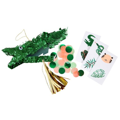 CROCODILE PIÑATA PARTY FAVOUR SET OF 3