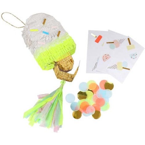 ICE CREAM PIÑATA PARTY FAVOUR SET OF 3
